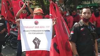 Bendera PDIP Dibakar, PA 212: Polisi Harus Usut Inisiator RUU HIP