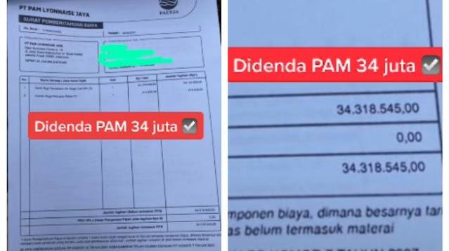 Viral di TikTok! Warga Ngaku Kena Denda Air PAM sampai Rp 34 Juta