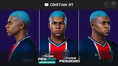 PES 2021 Faces Kylian Mbappe by Cristian CRT