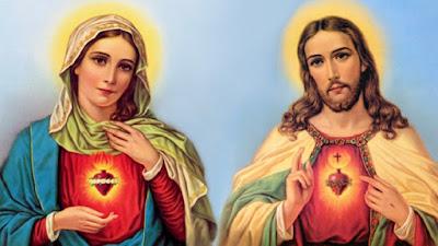 imagem de Nossa Senhora e Jesus Cristo