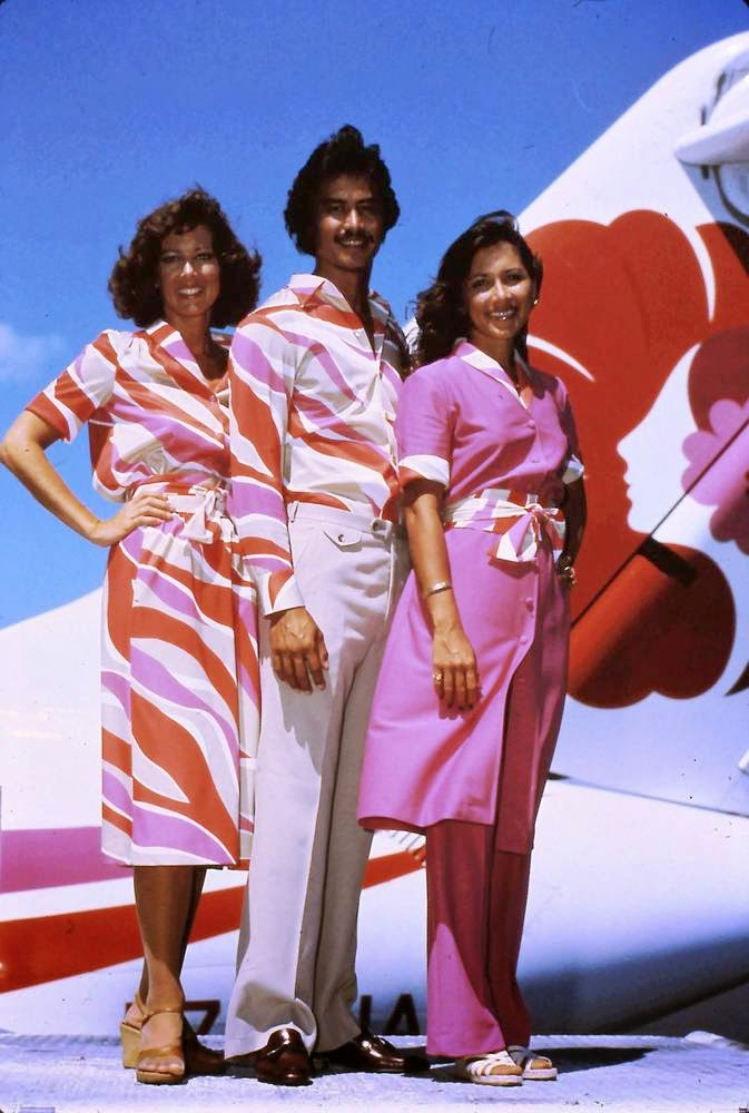 Style In The Aisle Awesome Vintage Hawaiian Airlines