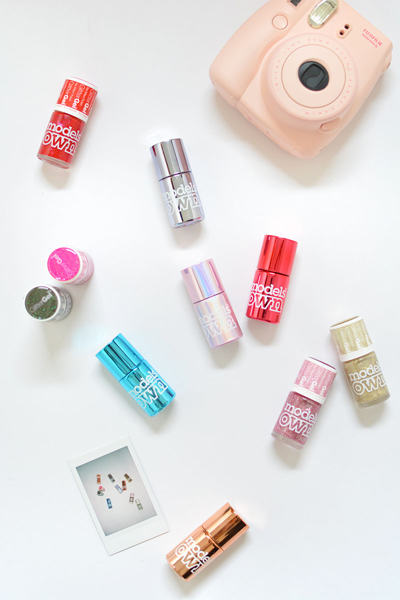 liquid and glitter gel effect nail polishes by models own. Click through to enter!