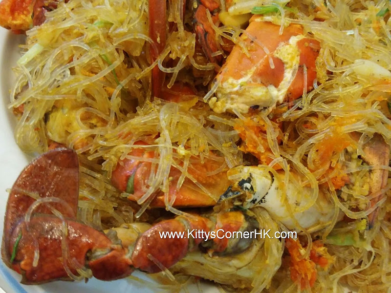 Crabs with Vermicelli recipe 螃蟹炒粉絲自家食譜