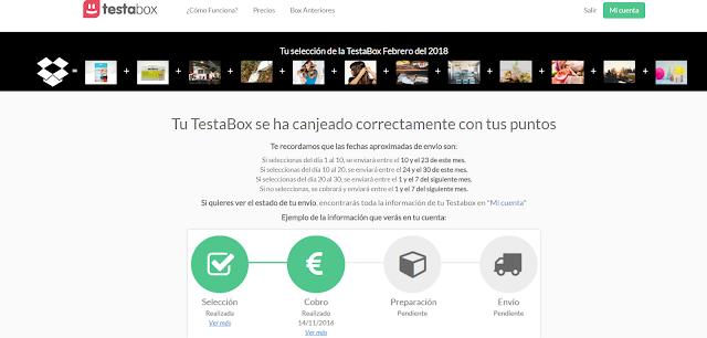 Como funciona la pagina web Testabox