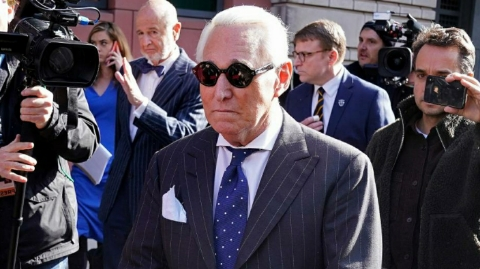 Trump means he is ready to pardon Roger Stone