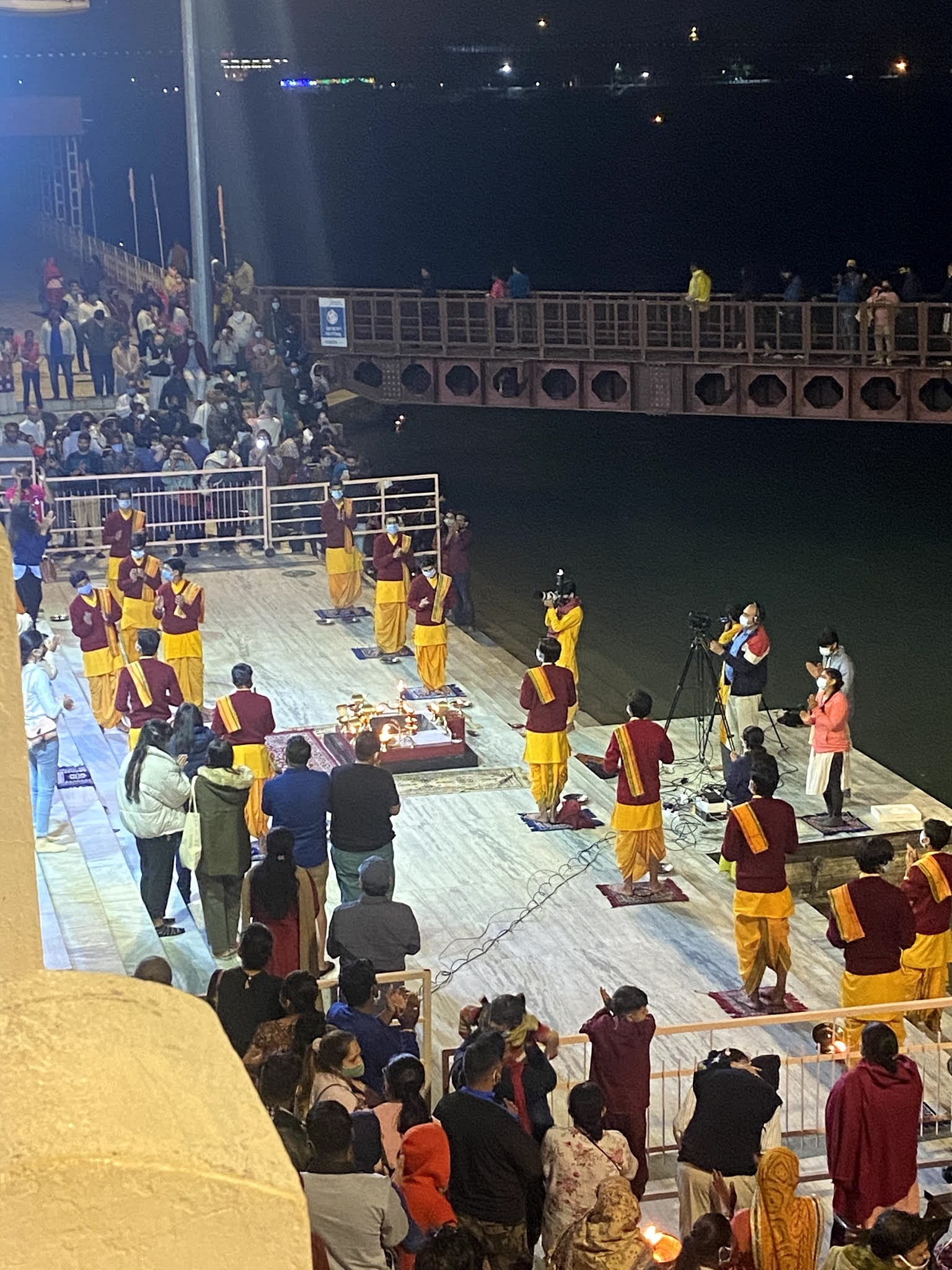 Ganga Aarti at Parmarth Niketan, Rishikesh