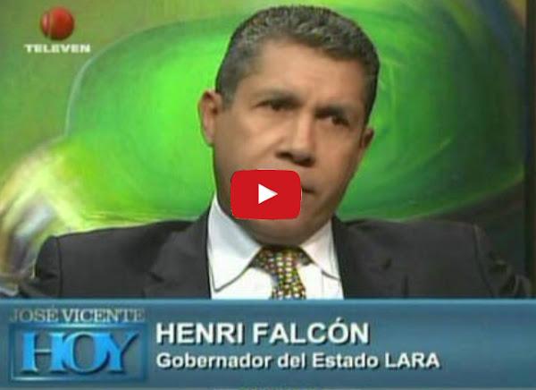 Henri Falcon con Jose Vicente Rangel