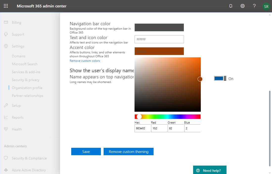 sharepoint online suite bar branding