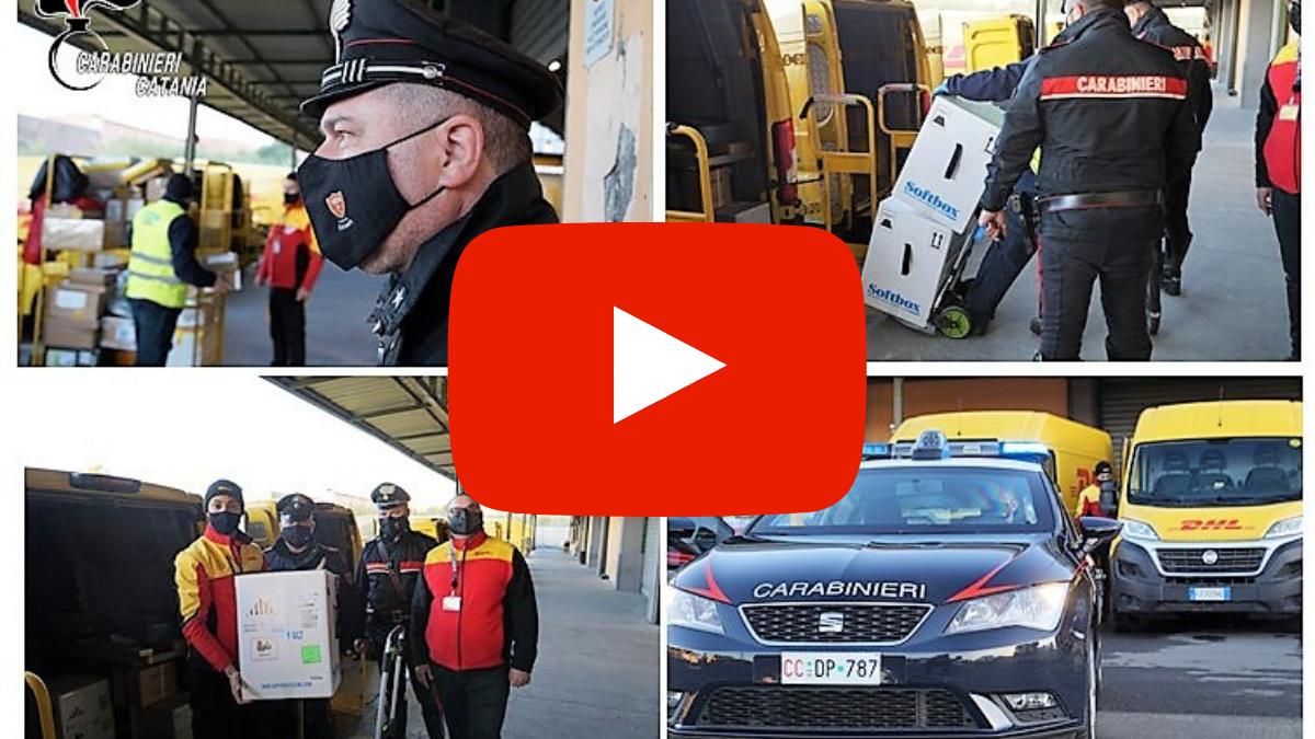 Catania, arrivano i primi vaccini scortati dai carabinieri (VIDEO)