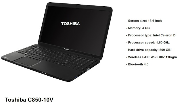 Toshiba C850-10V laptop specs and review