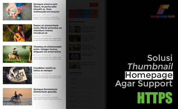 Cara Mengatasi Gambar di Artikel Homepage Tidak Support HTTPS