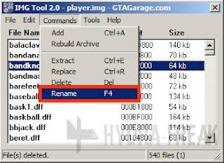 Cara mengganti nama berkas dengan IMG Tool 2.0 - 2