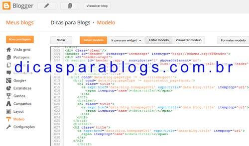 Códigos e Tags Condicionais do Blogger