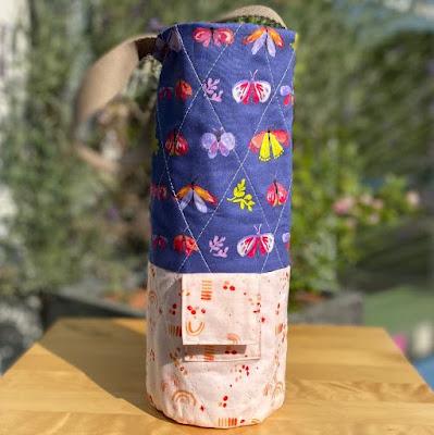 flaschenhülle aus stoff nähen