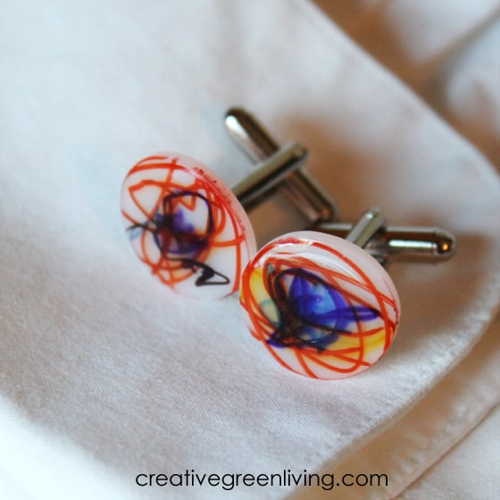 how to make cufflinks with kid art