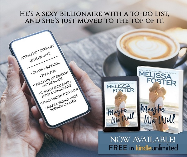 He's a sexy billionaire with a to-do list, and she's just moved to the top of it.  Aiden's Let Loose List. Send Proof! 1. Go on a bike ride. 2. Fly a kite. 3. Spend the afternoon on the beach. 4. Collect shells and build a sandcastle. 5. Spend time in the water. 6. Make a friend – not business related.