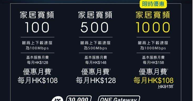 Da Wok Gum: 中移動1000M光纖寬頻限時優惠。只需要每月$108就有1000M寛頻上網了