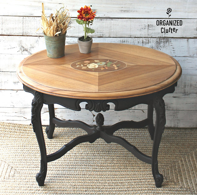 Ornate Garage Sale Coffee Table Upcycle