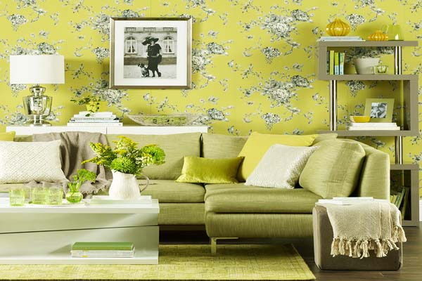 Living Room Minimalist Tips: Green Living Room Walls Decorating Ideas