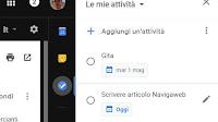 Google Tasks per creare liste di attività, eventi e appuntamenti online