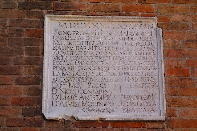 Zákaz klení a rouhání v Benátkách, Benátky průvodce, co vidět v Benátkách, kam v Benátkách, Benátky památky, Benátky historie, tajemné Benátky