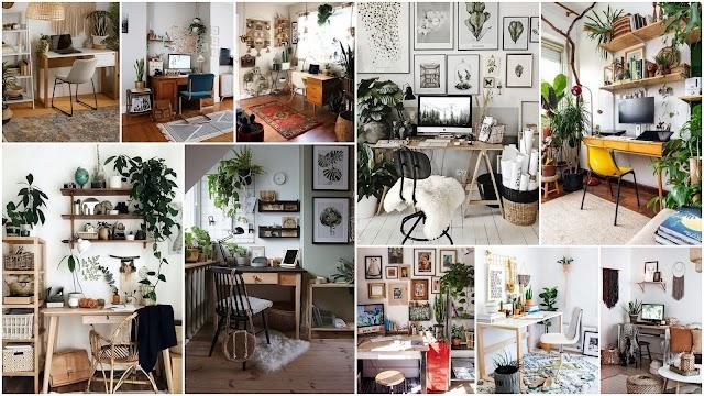 20 Γραφεία στο σπίτι διακοσμημένα σε  Boho στυλ
