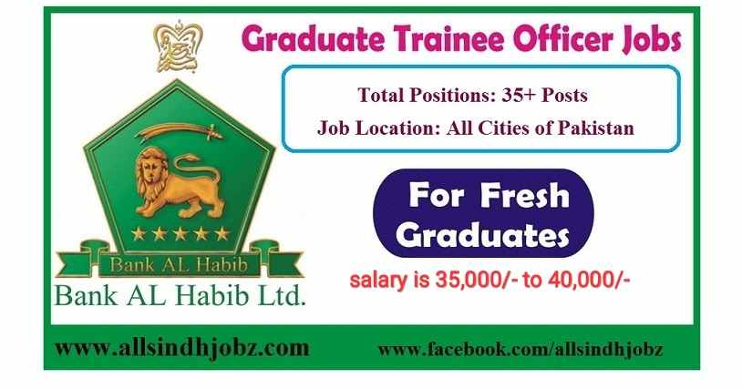 Bank Al Habib Limited Jobs 2020 for Graduate Trainee Officer (GKL-18)
