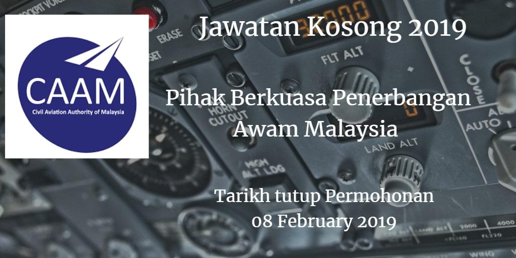Jawatan Kosong CAAM 08 February 2019