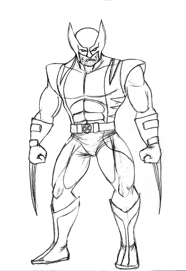 Coloring pages for kids free images wolverine logan free for Wolverine coloring pages free