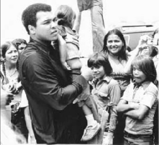White Wolf Muhammad Ali Walks On At 74 A Fighter For