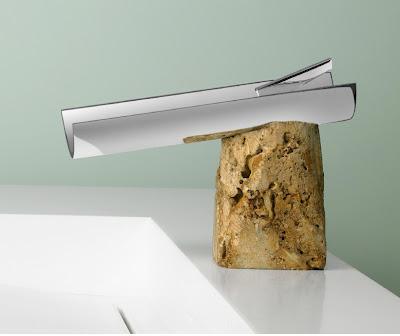 Marti SRGNatur Collection travertino faucet