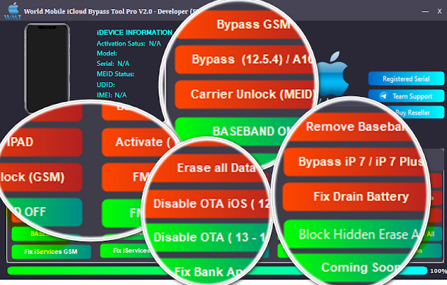 Mobile iCloud Bypass Tool V2.0 For Windows Download World