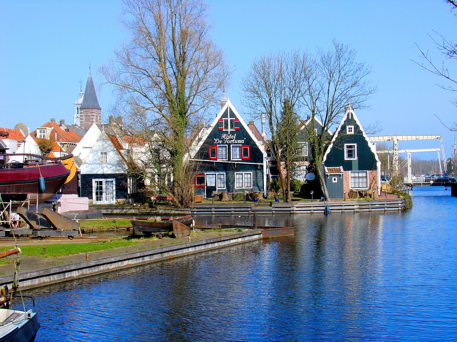 Strolling Through The Village Of Edam In The Netherlands