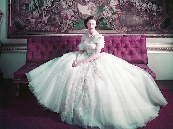 """Sukienka księżniczki Małgorzaty na wystawie ,,Christian Dior: Designer of Dreams"""" w V&A Museum w Londynie."""