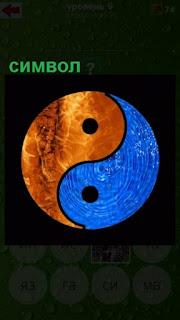 символ сине красного цвета круглый