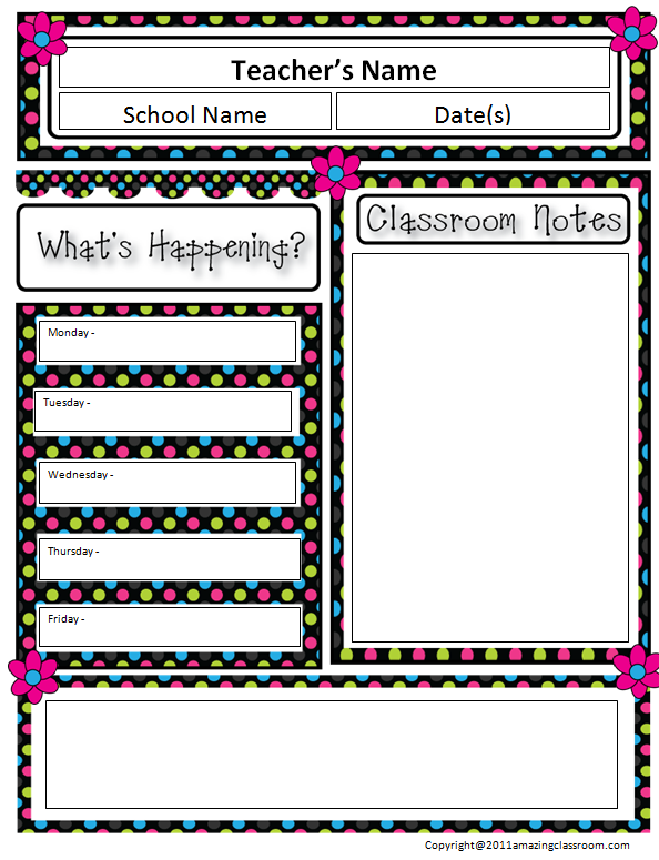 The AmazingClassroom.com Blog: Free Classroom Newsletter Template!