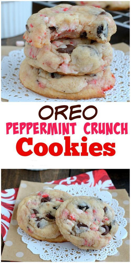 OREO PEPPERMINT CRUNCH COOKIES