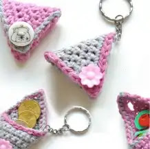 Llavero Monedero a Crochet
