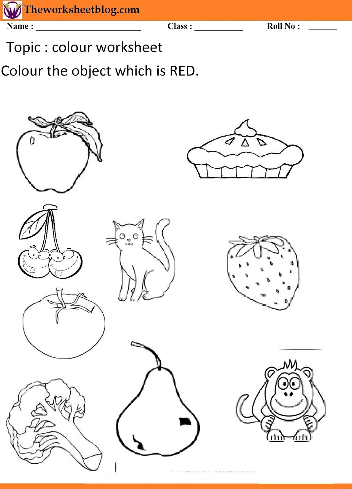 The Color Pink Worksheet For Kindergarten