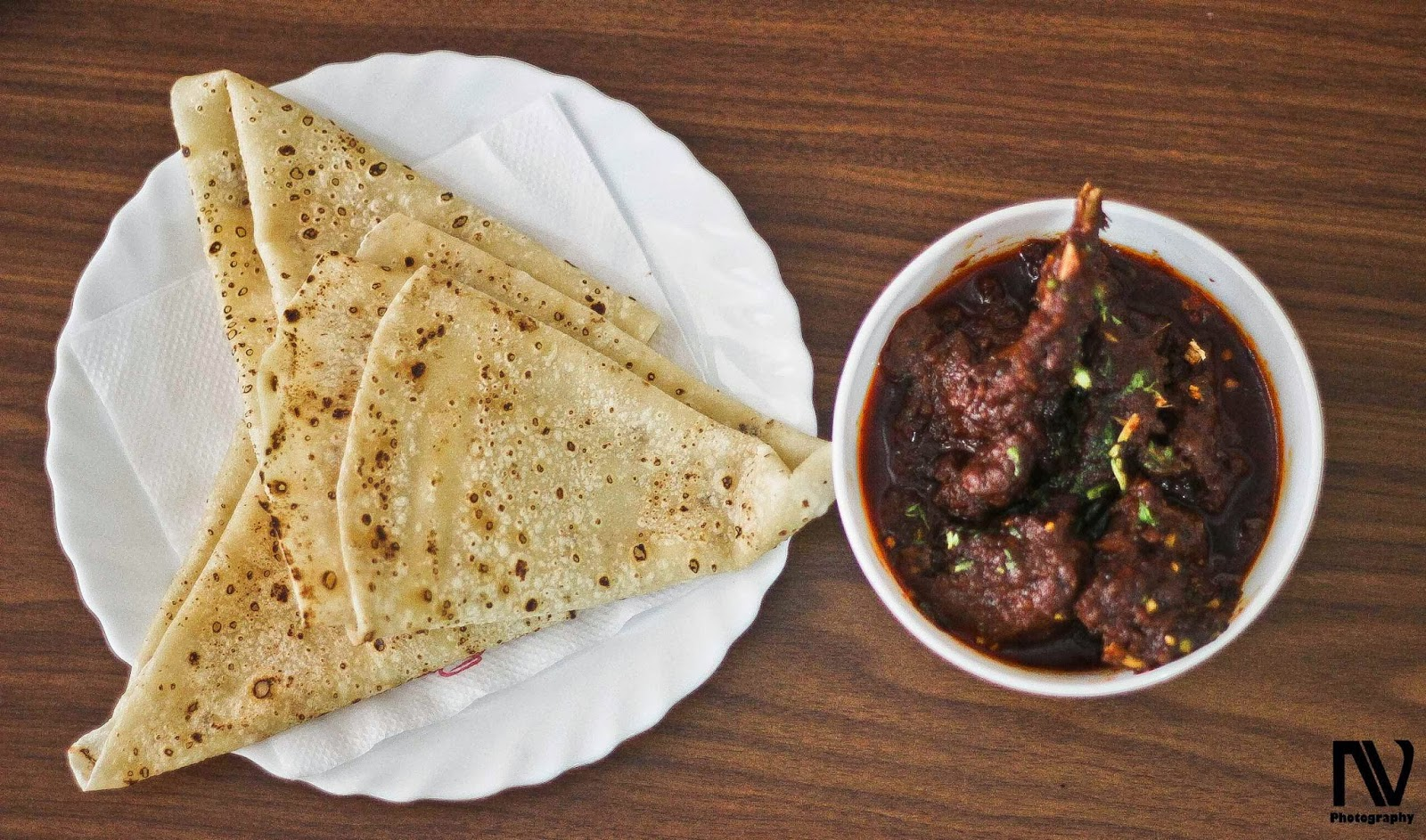 Bhuna Gosht with Roomali Roti