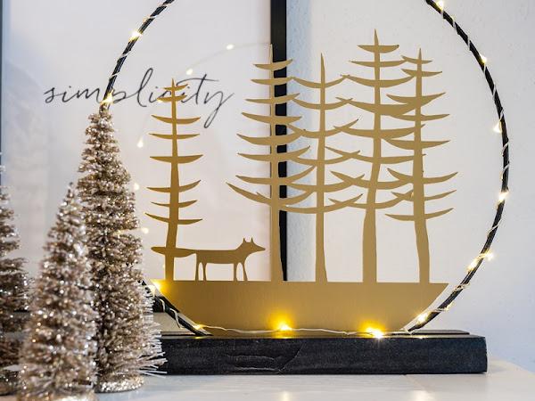 Weihnachtlich Willkommen - Dekoinspiration für den Hauseingang und DIY weihnachtlicher Lichterkranz