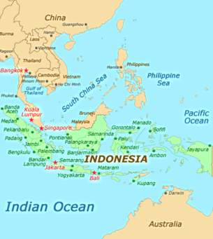 A Really Good Map I Located Showing Quite Clearly In Red Where Indonesia Is Relation To The Rest Of World Would Not Let Me Copy It