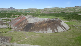 Volcano craters in Iceland