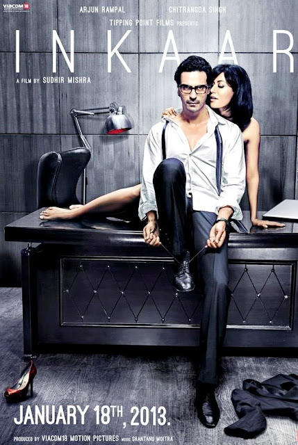 Inkaar Poster, directed by Sudhir Mishra, starring  Arjun Rampal, Chitrangada Singh, hot scene, getting cozy in office