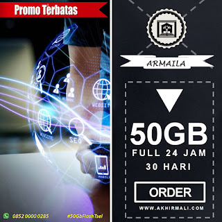 Hot Offer Telkomsel 50GB AS, Loop, simPATI Flash 24 Jam 30 Hari