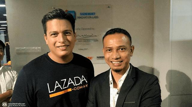 CEO Lazada, Hans-Peter Ressel, Khir Khalid,