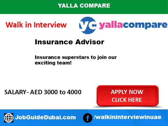 Walk in job Interview in Dubai for Insurance Adviser at Yalla compare Telesales