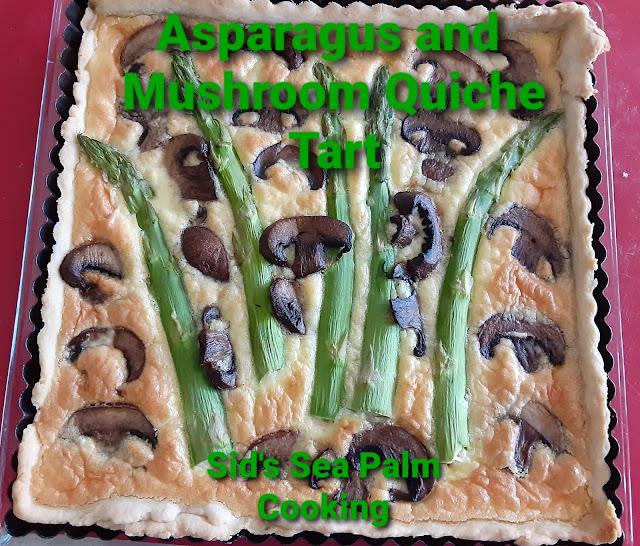 Asparagus and Mushroom Quiche Tart
