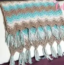 Manta ZigZag a Crochet