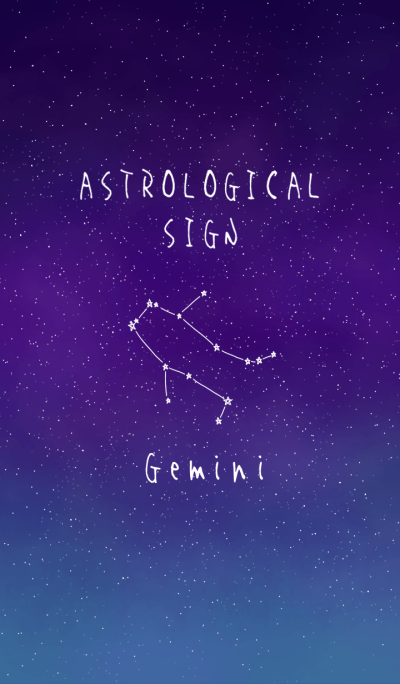 ASTROLOGICAL SIGN.(Gemini)